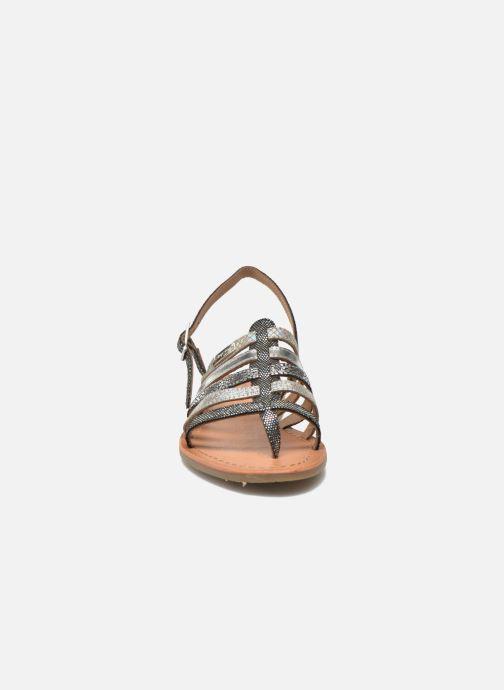 Sandales et nu-pieds Les Tropéziennes par M Belarbi Belinda Argent vue portées chaussures