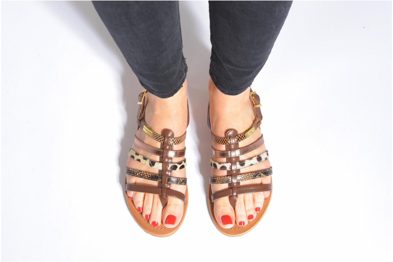 Sandales et nu-pieds Les Tropéziennes par M Belarbi Belinda Argent vue bas / vue portée sac
