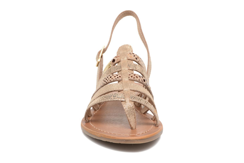 Sandales et nu-pieds Les Tropéziennes par M Belarbi Belinda Or et bronze vue portées chaussures