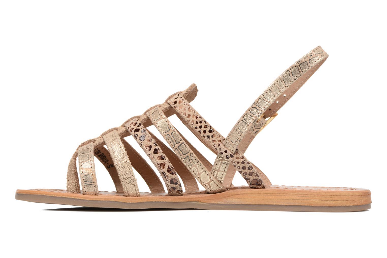 Sandales et nu-pieds Les Tropéziennes par M Belarbi Belinda Or et bronze vue face