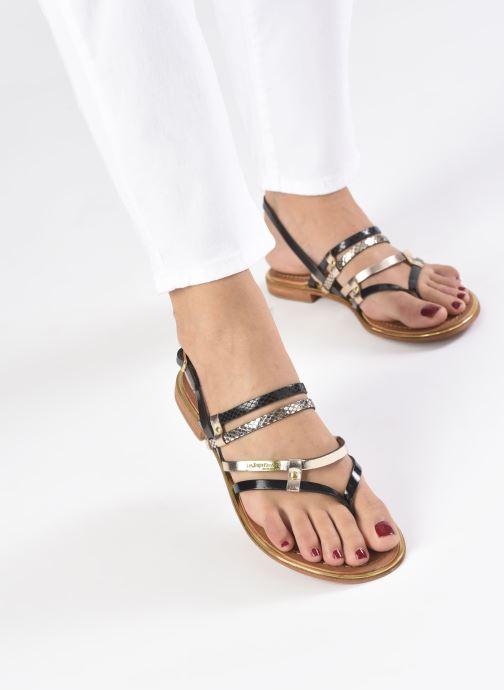 Sandales et nu-pieds Les Tropéziennes par M Belarbi Cumin Noir vue bas / vue portée sac
