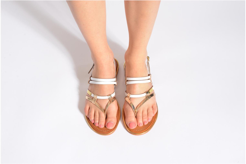 Sandales et nu-pieds Les Tropéziennes par M Belarbi Cumin Or et bronze vue bas / vue portée sac