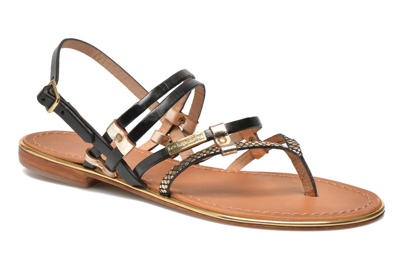 Sandales et nu-pieds Les Tropéziennes par M Belarbi Cumin Or et bronze vue détail/paire