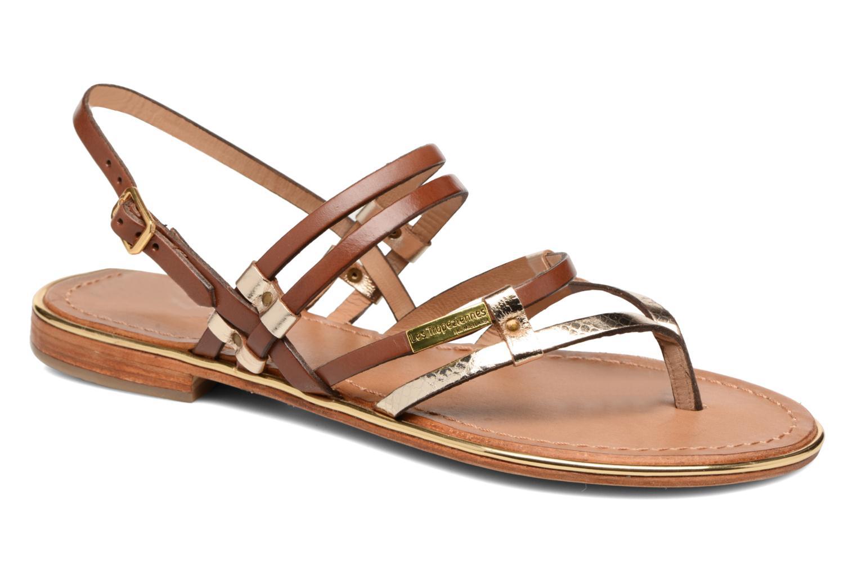 Sandales et nu-pieds Les Tropéziennes par M Belarbi Cumin Marron vue détail/paire