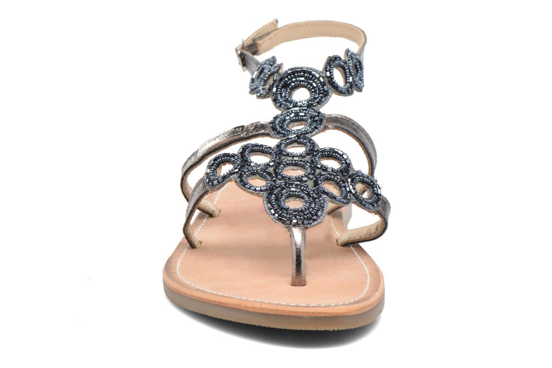 Sandales et nu-pieds Les Tropéziennes par M Belarbi Ofelie Gris vue portées chaussures