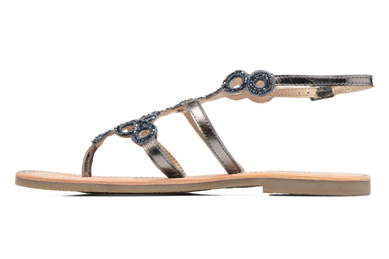 Sandales et nu-pieds Les Tropéziennes par M Belarbi Ofelie Gris vue face
