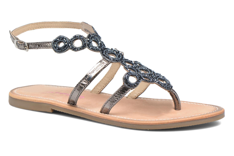 Sandales et nu-pieds Les Tropéziennes par M Belarbi Ofelie Gris vue détail/paire