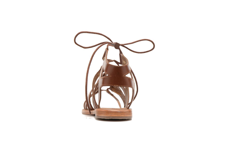 Sandalen Les Tropéziennes par M Belarbi Marilyn braun ansicht von rechts