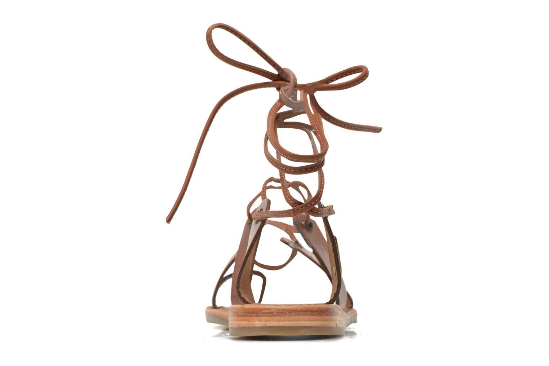 Sandales et nu-pieds Les Tropéziennes par M Belarbi Bird Marron vue droite