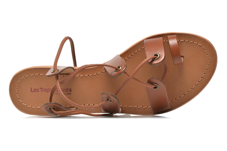 Sandales et nu-pieds Les Tropéziennes par M Belarbi Bird Marron vue gauche