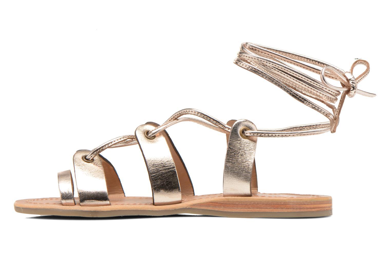 Sandales et nu-pieds Les Tropéziennes par M Belarbi Bird Or et bronze vue face