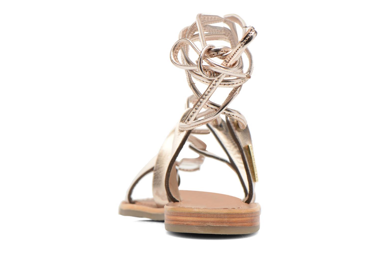 Sandales et nu-pieds Les Tropéziennes par M Belarbi Bird Or et bronze vue droite
