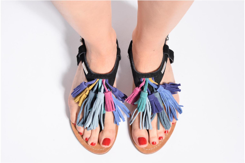 Sandales et nu-pieds Les Tropéziennes par M Belarbi Gorby Noir vue bas / vue portée sac