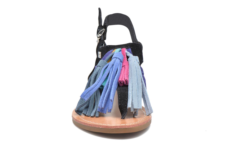 Sandales et nu-pieds Les Tropéziennes par M Belarbi Gorby Noir vue portées chaussures
