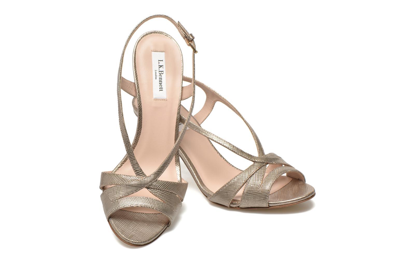 Sandales et nu-pieds L.K. Bennett Diana Or et bronze vue 3/4
