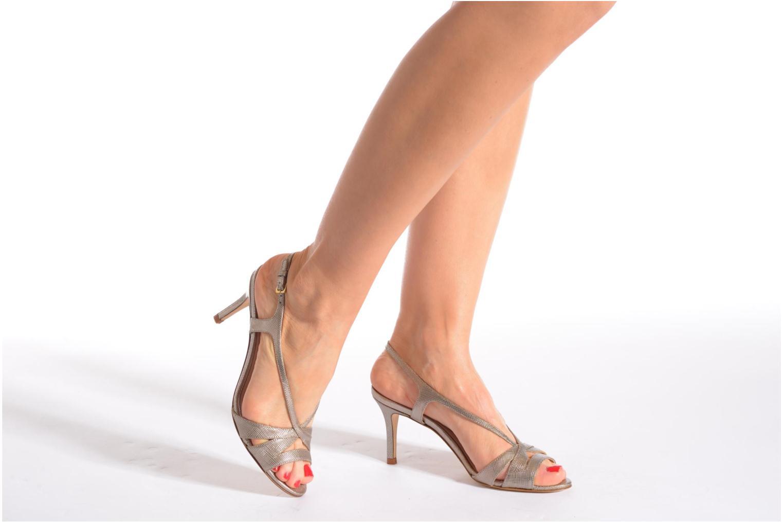 Sandales et nu-pieds L.K. Bennett Diana Or et bronze vue bas / vue portée sac