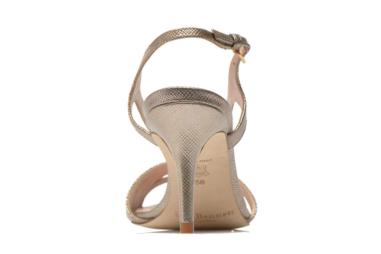 Sandales et nu-pieds L.K. Bennett Diana Or et bronze vue droite
