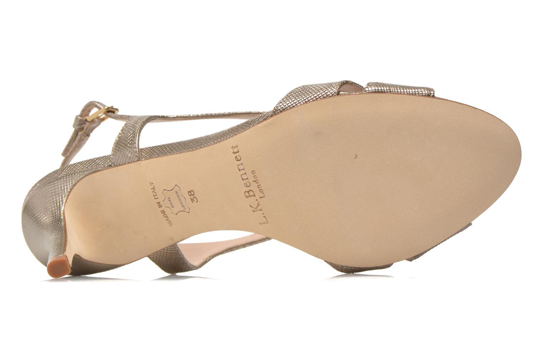 Sandales et nu-pieds L.K. Bennett Diana Or et bronze vue haut