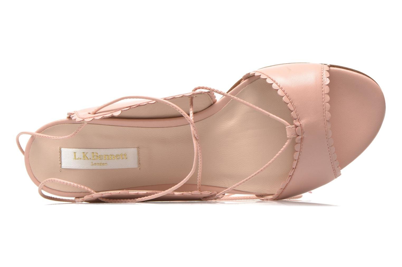Sandals L.K. Bennett Jackies Pink view from the left