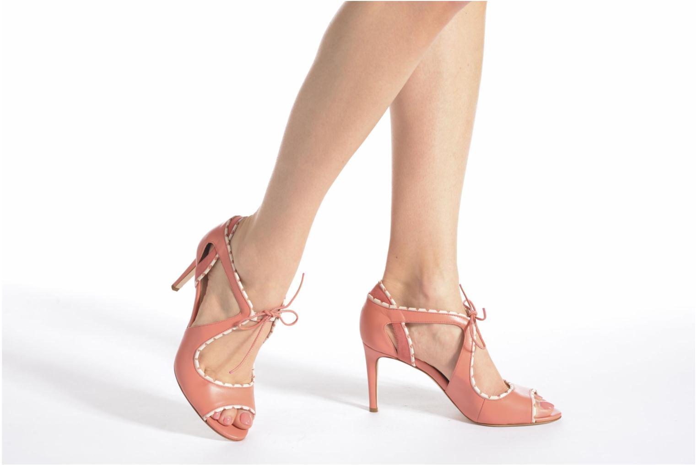 Sandales et nu-pieds L.K. Bennett Miki Orange vue bas / vue portée sac
