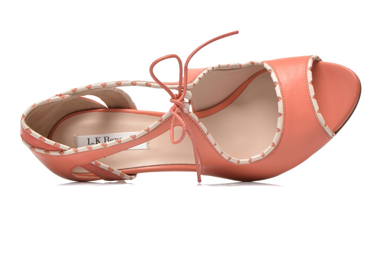 Sandales et nu-pieds L.K. Bennett Miki Orange vue gauche