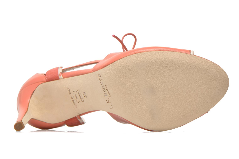 Sandales et nu-pieds L.K. Bennett Miki Orange vue haut
