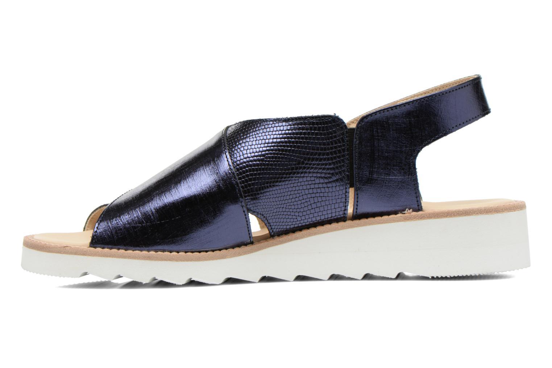 Sandales et nu-pieds MAURICE manufacture Suzan Bleu vue face