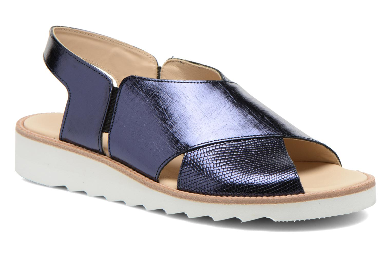 Sandales et nu-pieds MAURICE manufacture Suzan Bleu vue détail/paire