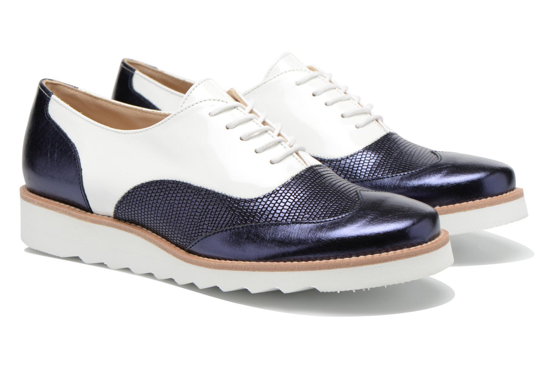 Chaussures à lacets MAURICE manufacture Silva Blanc vue 3/4