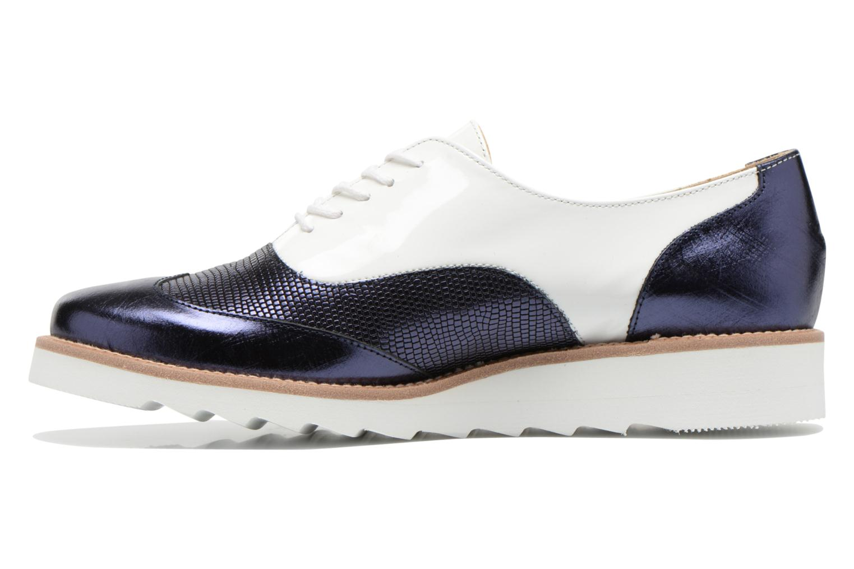 Chaussures à lacets MAURICE manufacture Silva Blanc vue face