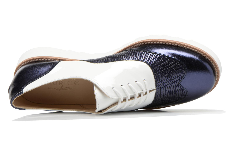 Chaussures à lacets MAURICE manufacture Silva Blanc vue gauche