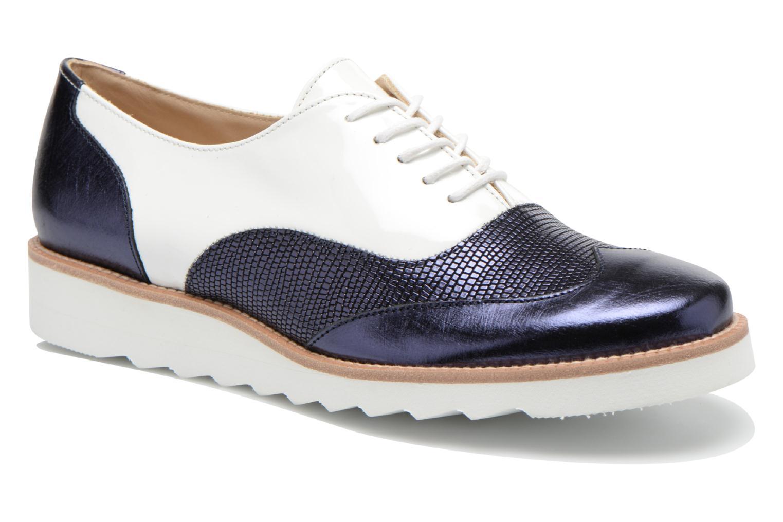 Chaussures à lacets MAURICE manufacture Silva Blanc vue détail/paire