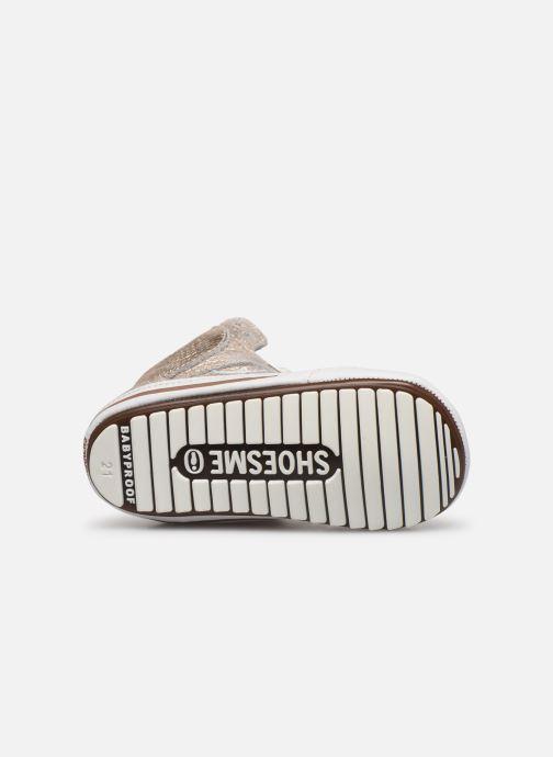 Baskets Shoesme Baby-Proof smart Or et bronze vue haut