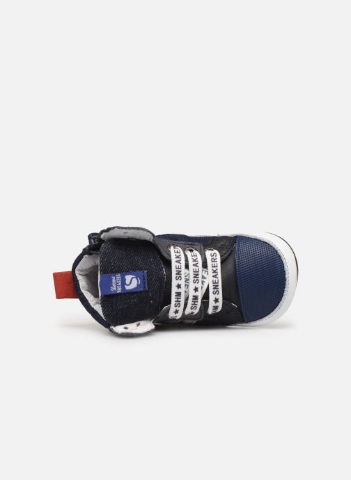 Sneaker Shoesme Baby-Proof smart blau ansicht von links