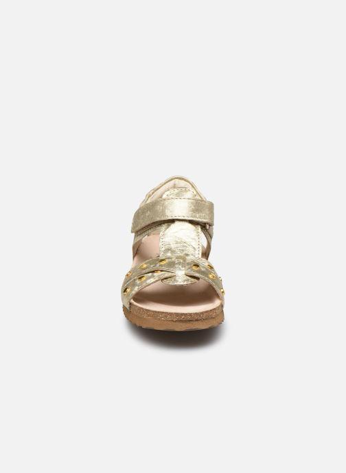 Sandali e scarpe aperte Shoesme Bio Sandaal Oro e bronzo modello indossato