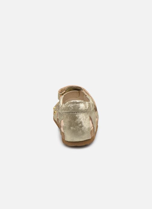 Sandali e scarpe aperte Shoesme Bio Sandaal Oro e bronzo immagine destra