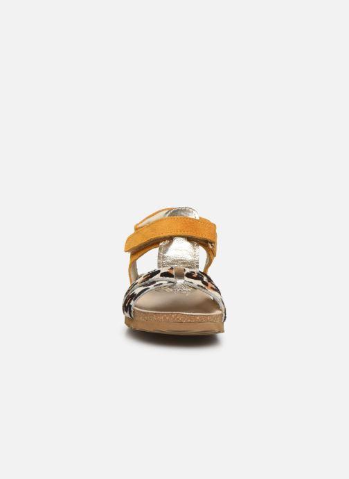 Sandalen Shoesme Bio Sandaal gelb schuhe getragen