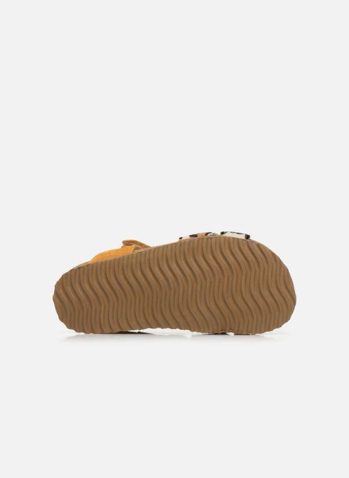 Sandalen Shoesme Bio Sandaal gelb ansicht von oben