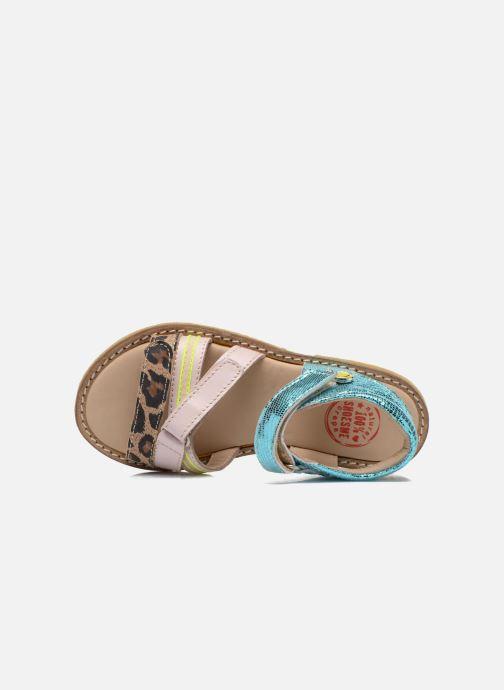 Sandales et nu-pieds Shoesme Meisjes Sandaal Leren Zool Multicolore vue gauche