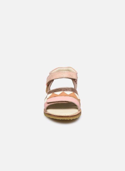 Sandales et nu-pieds Shoesme Meisjes Sandaal Leren Zool Rose vue portées chaussures