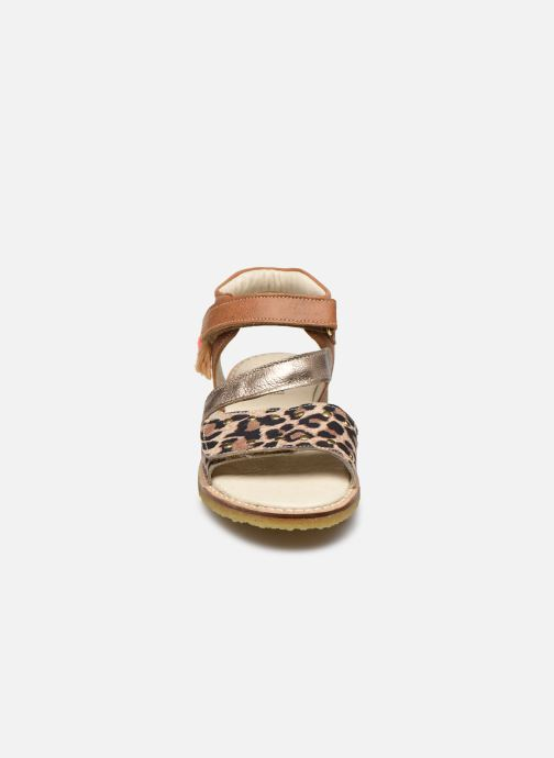 Sandali e scarpe aperte Shoesme Meisjes Sandaal Leren Zool Marrone modello indossato