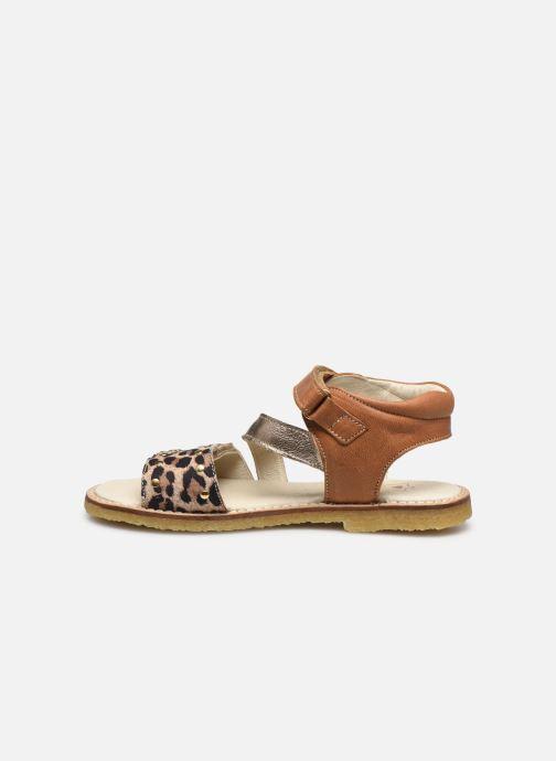 Sandali e scarpe aperte Shoesme Meisjes Sandaal Leren Zool Marrone immagine frontale