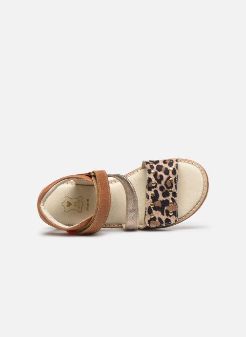 Sandali e scarpe aperte Shoesme Meisjes Sandaal Leren Zool Marrone immagine sinistra