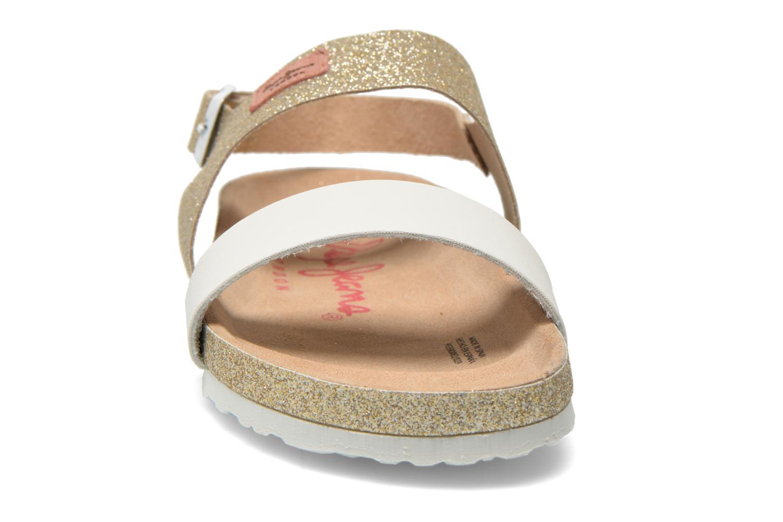 Sandales et nu-pieds Pepe jeans Bio Glitter Or et bronze vue portées chaussures