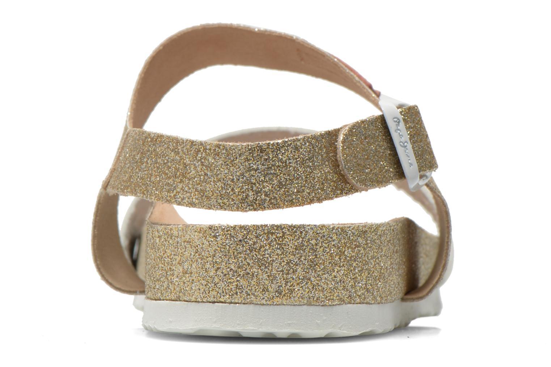 Sandales et nu-pieds Pepe jeans Bio Glitter Or et bronze vue droite