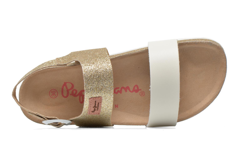 Sandales et nu-pieds Pepe jeans Bio Glitter Or et bronze vue gauche