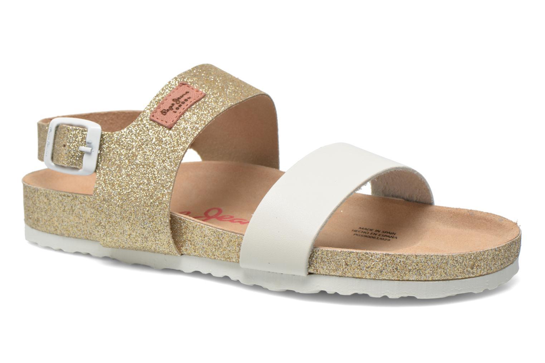Sandales et nu-pieds Pepe jeans Bio Glitter Or et bronze vue détail/paire