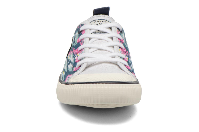 Baskets Pepe jeans Industry Low Glitter Multicolore vue portées chaussures