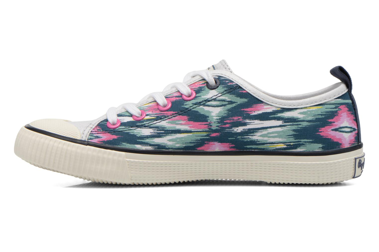 Baskets Pepe jeans Industry Low Glitter Multicolore vue face