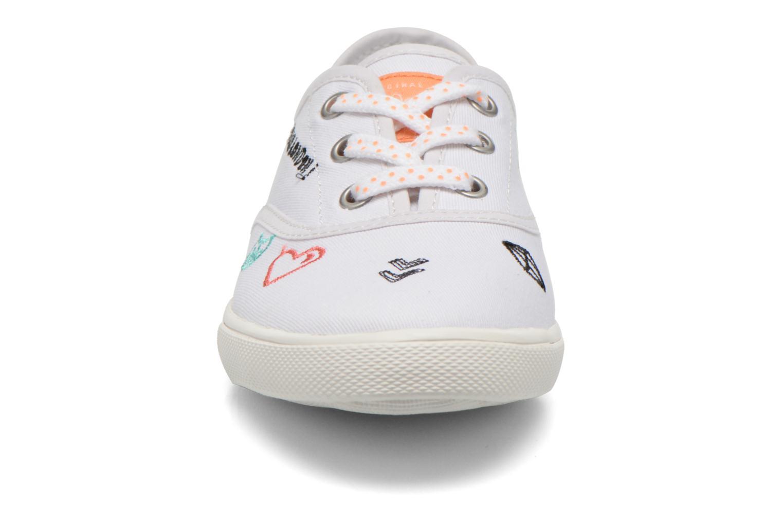 Baskets Pepe jeans Soho Draw Blanc vue portées chaussures